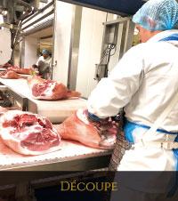 Atelier de découpe de porcs Roussaly à Lacaune dans le Tarn