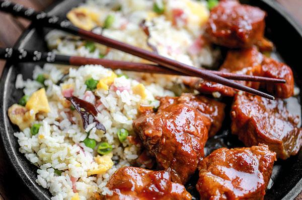 Recette de porc à la chinoise, viande de porc Roussaly