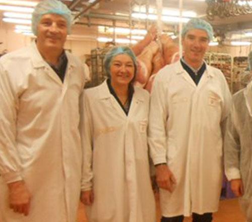 Famille Roussaly grossiste en viande de porc depuis plus de 50 ans